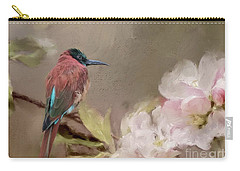Carmine Bee-eater Carry-all Pouch by Eva Lechner