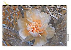 Carnation In Cut Glass 7 Carry-all Pouch by Lynda Lehmann
