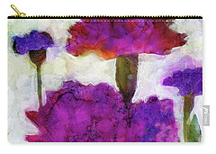 Carry-all Pouch featuring the painting Carnations by Julie Maas