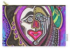 Carnival Face Carry-all Pouch