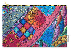 Carry-all Pouch featuring the drawing Carnival by Megan Walsh