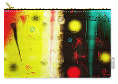 Carry-all Pouch featuring the digital art Carnival by Silvia Ganora