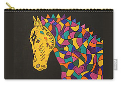 Carnival Stained Glass Tribal Horse Carry-all Pouch