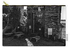 Carry-all Pouch featuring the photograph Photographs Of Cornwall Carnon Mine by Brian Roscorla