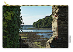 Carry-all Pouch featuring the photograph Photographs Of Cornwall Carnon Mine Window by Brian Roscorla