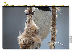 Carolina Chickadee On Cattails Carry-all Pouch