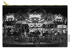 Carousel At Night  Bw 2017 2 Carry-all Pouch