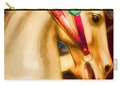 Carry-all Pouch featuring the photograph Carousel Colors by Mel Steinhauer