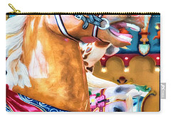 Carry-all Pouch featuring the photograph Carousel Cowboy by Mel Steinhauer