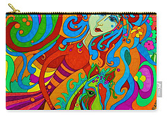 Carousel Dance 2016 Carry-all Pouch by Alison Caltrider