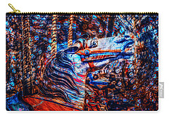 Carry-all Pouch featuring the photograph Carousel Dream by Michael Arend