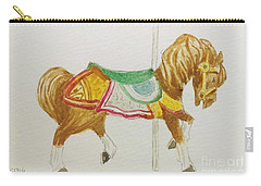 Carousel Horse Carry-all Pouch by Stacy C Bottoms