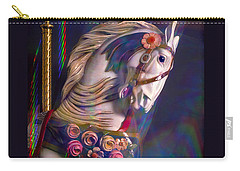 Carry-all Pouch featuring the photograph Carousel Memories by Marie Hicks
