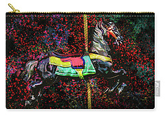 Carry-all Pouch featuring the photograph Carousel Number 16 by Michael Arend
