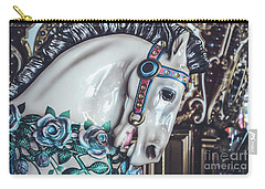 Carry-all Pouch featuring the photograph Carousel Time by Colleen Kammerer