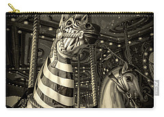 Carousel Zebra Carry-all Pouch by Caitlyn Grasso