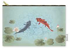 Carp In Lily Pond Carry-all Pouch