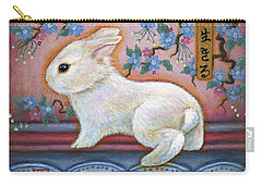 Carpe Diem Rabbit Carry-all Pouch by Retta Stephenson