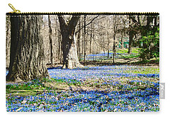 Carpet Of Blue Carry-all Pouch by Stephanie Moore