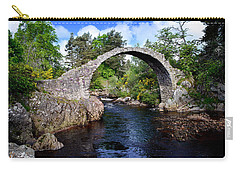 Carr Bridge Scotland Carry-all Pouch by Don and Bonnie Fink