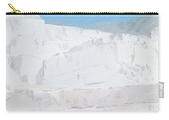 White Carrara Marble Carry-All Pouches