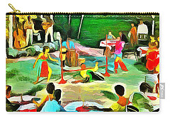 Carribean Scenes - Calypso And Limbo Carry-all Pouch by Wayne Pascall