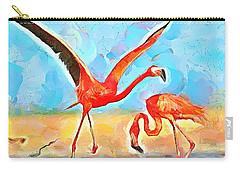 Caribbean Scenes - Trinidad's Scarlet Ibis/flamingo Carry-all Pouch