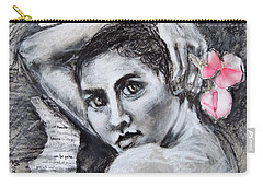 Carry-all Pouch featuring the drawing Carried Away by Mary Schiros