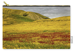 Carry-all Pouch featuring the photograph Carrizo  Plain Super Bloom 2017 by Peter Tellone