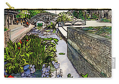 Carry-all Pouch featuring the painting Carroll Creek 2016 by Ron Richard Baviello