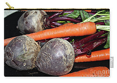 Carry-all Pouch featuring the photograph Carrots And Beets by Ann E Robson