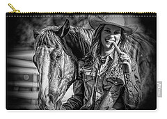 Carrots Cowgirls And Horses  Black Carry-all Pouch