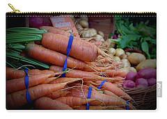 Carrots Vignette At Davis Farmers' Market Carry-all Pouch