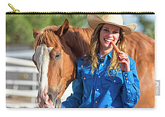 Carrots,cowgirls And Horses  Carry-all Pouch