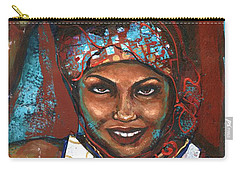 Carry-all Pouch featuring the painting Carrying Basket by Alga Washington