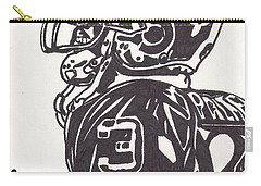 Carry-all Pouch featuring the drawing Carson Palmer 1 by Jeremiah Colley