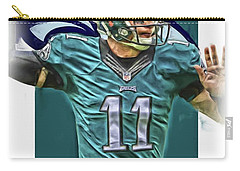 Carson Wentz Philadelphia Eagles Oil Art Carry-all Pouch