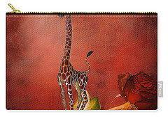 Cartoon Giraffe Carry-all Pouch