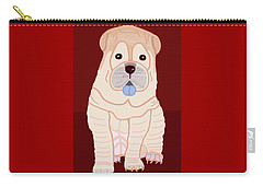 Cartoon Shar Pei Carry-all Pouch by Marian Cates