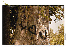 Carve I Love You In That Big White Oak Carry-all Pouch