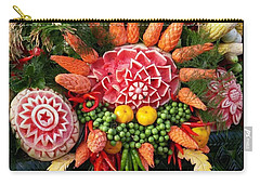 Carry-all Pouch featuring the photograph Carved Watermelon, And I Think Those by Mr Photojimsf