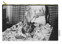 Carving The Thanksgiving Turkey Carry-all Pouch by American School