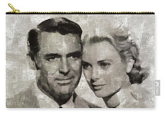 Cary Grant And Grace Kelly, Hollywood Legends Carry-all Pouch