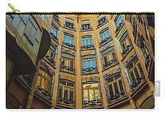Carry-all Pouch featuring the photograph Casa Mila - Barcelona by Colleen Kammerer