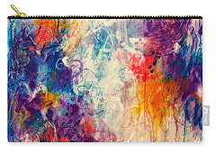 Carry-all Pouch featuring the painting Cascade Into The Oceans by Tracy Bonin