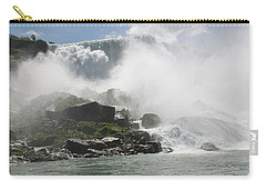 Carry-all Pouch featuring the photograph Cascade Of Niagra Falls by Jeff Folger