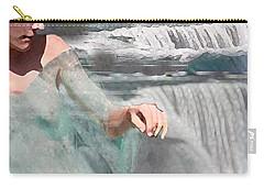 Carry-all Pouch featuring the digital art Cascade by Steve Karol