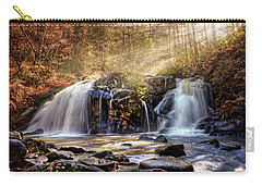 Carry-all Pouch featuring the photograph Cascades Of Light by Debra and Dave Vanderlaan