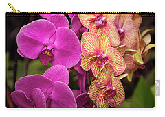 Carry-all Pouch featuring the photograph Cascading Orchids by Penny Lisowski
