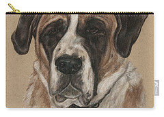 Carry-all Pouch featuring the drawing Casey  by Meagan  Visser